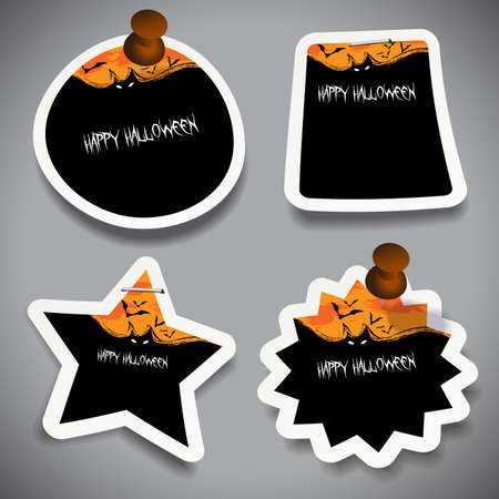 Halloween Tags, Labels or Speech Bubbles Collection Vector