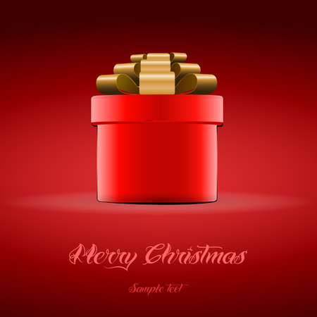 red gift box: Red Gift Box for Christmas