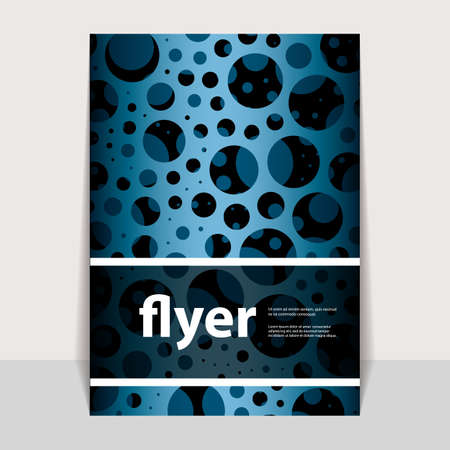 pitted: Flyer or Cover Design with Blue Abstract Pattern