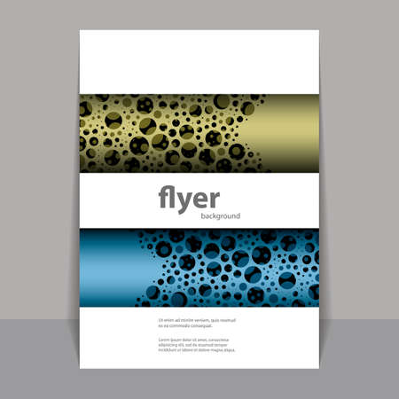 bubbly: Flyer or Cover Design with Colorful Abstract Bubbly Pattern Illustration