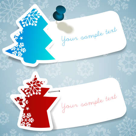 the information card: Christmas Labels Illustration