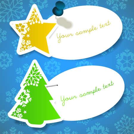 staple: Christmas Labels Illustration