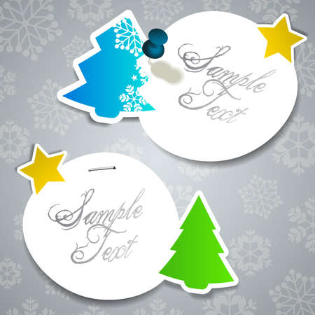 paper cut out: Christmas Labels Illustration