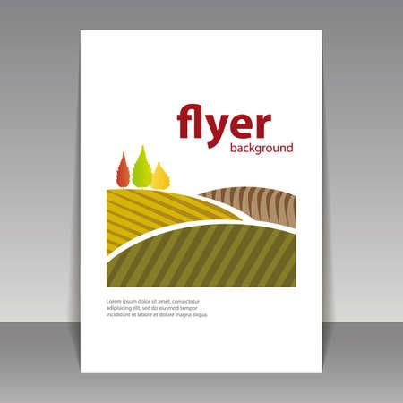 Flyer or Cover Design - Autumn Landscape  Vector