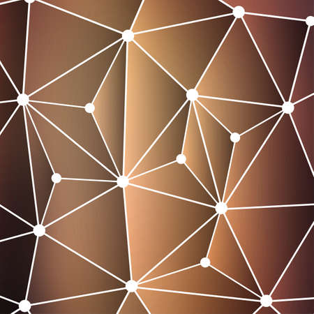 Connections - Molecular, Global, Business Network Design with Blurred Background Vector