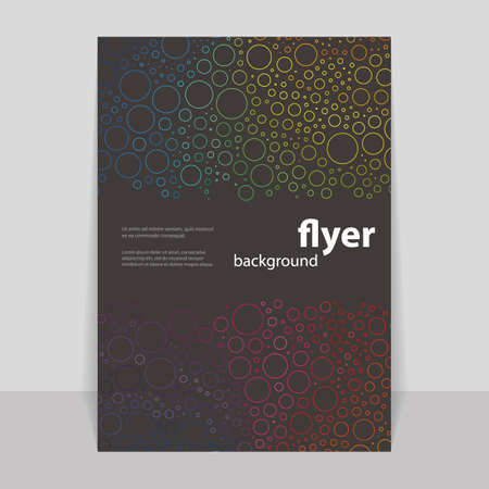 Flyer or Cover Design with Colorful Abstract Pattern - Rings Vector