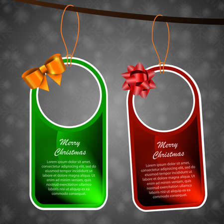 Christmas Tags or Labels Vector