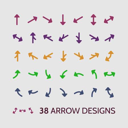 flèche double: Flèche Icon Set, Clipart Vector Design