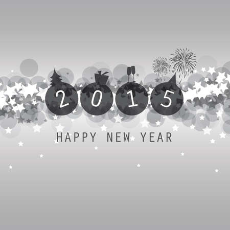 New Year Card, Cover or Background Template - 2015 Vector