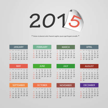 Calendar 2015 - Vector Illustration Design Vector