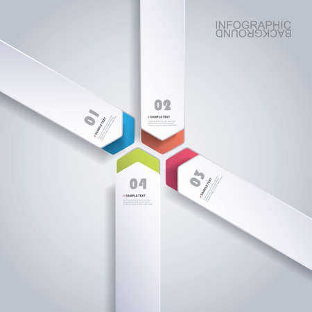 data center: Colorful Paper Cut Infographics Design - Rounded Arrows Illustration