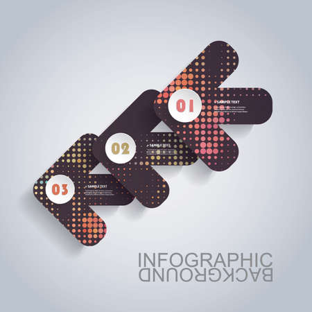Modern Business Infographic Template - Abstract Arrow Shapes Vector