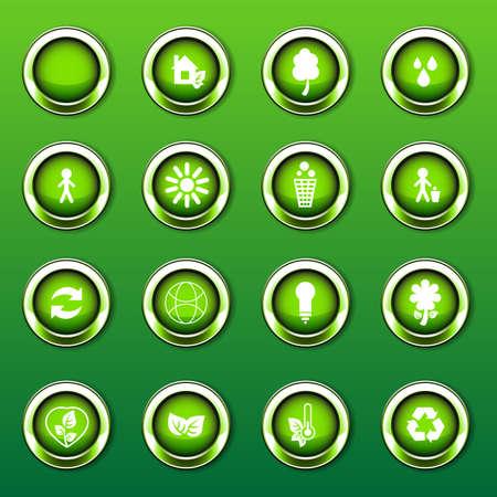 Eco Logos, Icons Vector