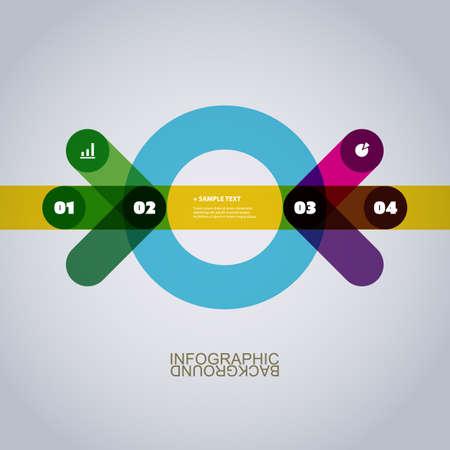 flecha direccion: Plantilla moderna de negocios Infograf�a - Flecha Forma