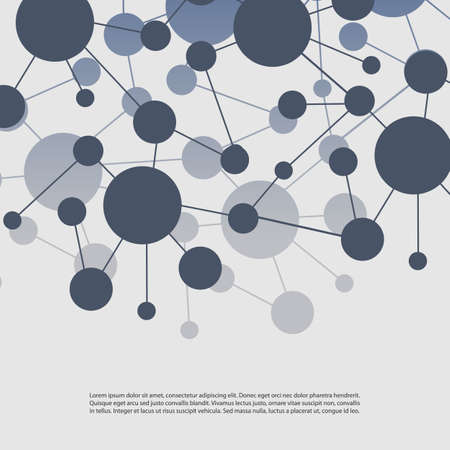 Connections - Molecular, Global, Business Network Design Vector