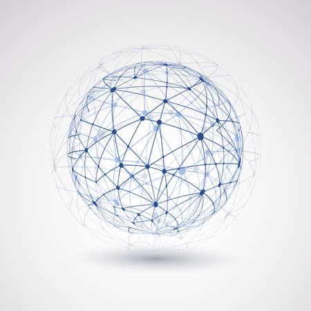 ネットワーク - グローブ ・ デザイン  イラスト・ベクター素材