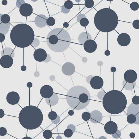 globális üzleti: Connections - Molekuláris, Global, Business Network Design Illusztráció