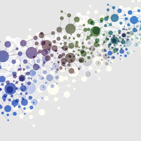 globális üzleti: Connections - Színes Molecular, Global, Business Network Design
