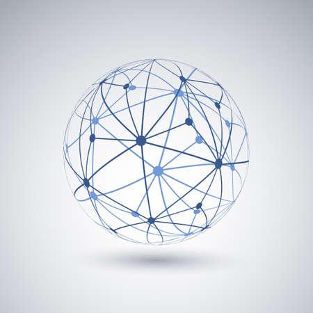 네트워크 - 글로브 디자인 일러스트