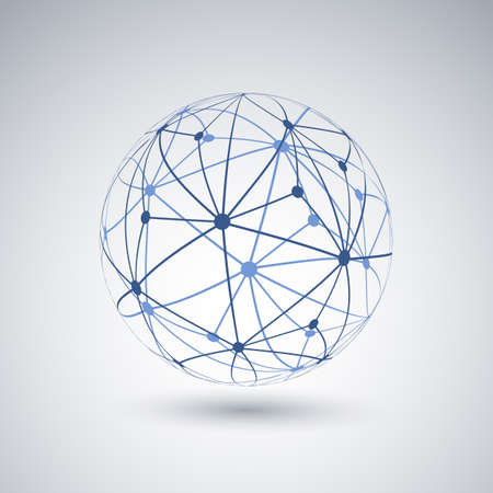 Networks - Globe Design Stock Illustratie