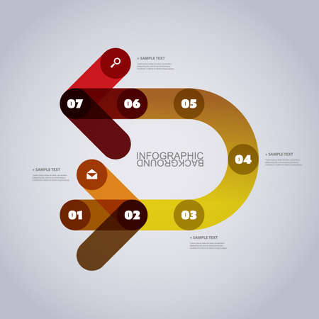 turnaround: Modern Business Infographic Template - Abstract Arrow Shapes Illustration