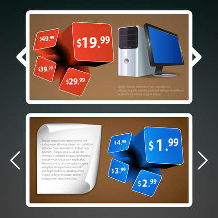 Header or Banner Designs for Product Selling Vector