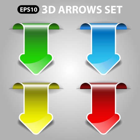 pointing up: 3d Vector Arrows Set