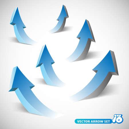 3 D 矢印のコレクション  イラスト・ベクター素材