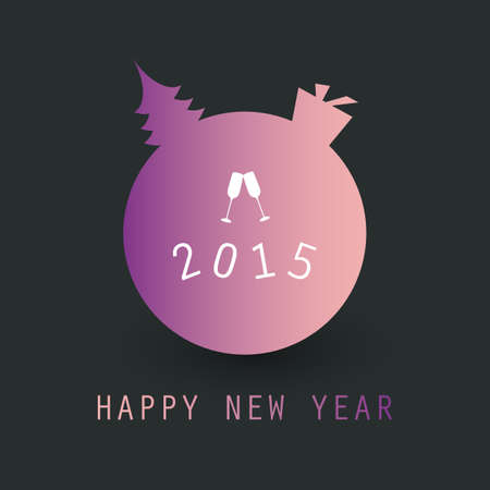 New Year Card Background - 2015 Vector
