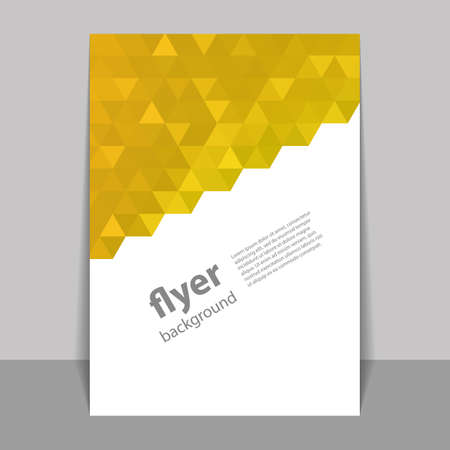 mustard: Flyer or Cover Design with Triangle Mosaic Pattern - Mustard Yellow