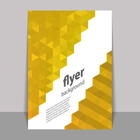 Flyer or Cover Design with Triangle Mosaic Pattern - Mustard Yellow
