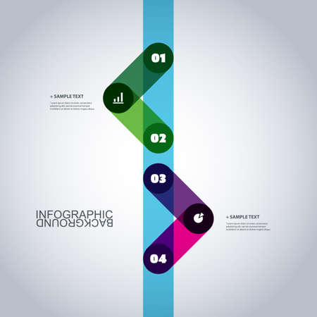 Modern Business Infographic Template - Minimal Timeline Design Vector