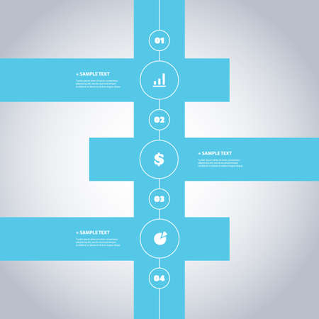Minimal Timeline Design - Infographic Elements with Icons Vector