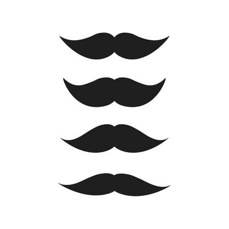 Hipster Mustache Collection Design Illustration