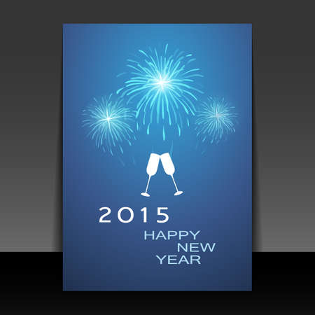 New Year Card - Happy New Year 2015 Vector
