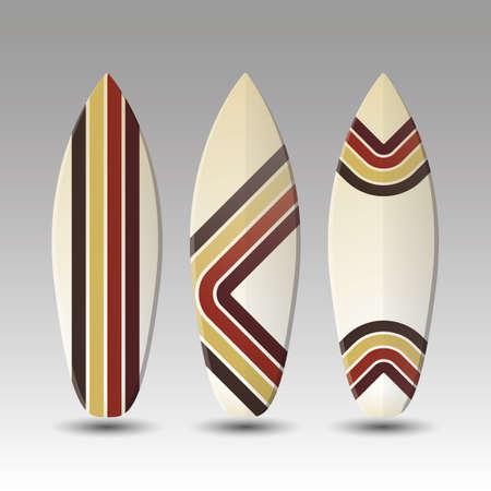 Vector Surfboards Design - Striped Pattern Vector