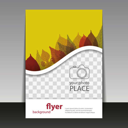 Flyer or Cover Design with Place for Your Autumn Leaves Vector