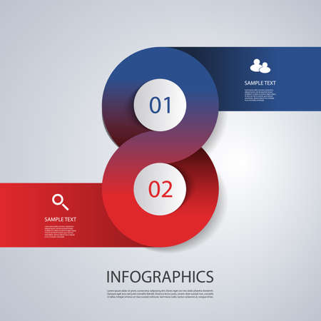 Infographics Cover Template - Circle Designs with Icons Vector