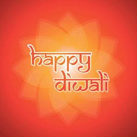 ornamental background: Happy Diwali Card - Vector Background Illustration