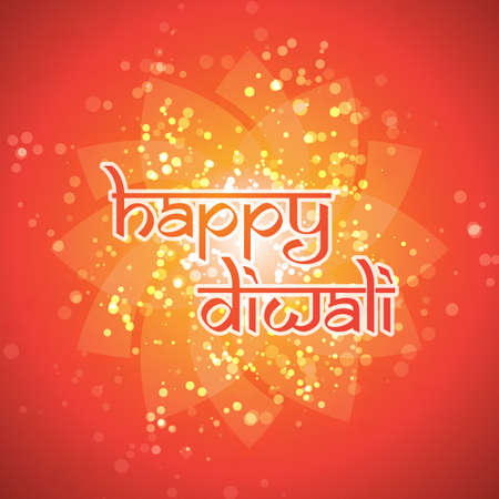 diwali celebration: Happy Diwali Card - Vector Background Illustration