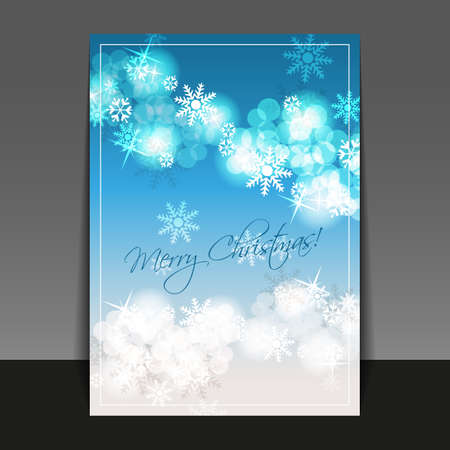 Christmas Flyer or Cover Design Template Vector