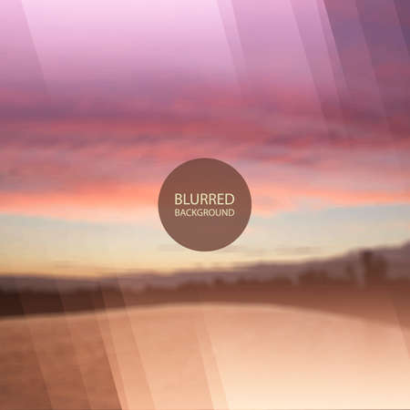 surrealistic: Abstract Background - Blurred Image - Sunset