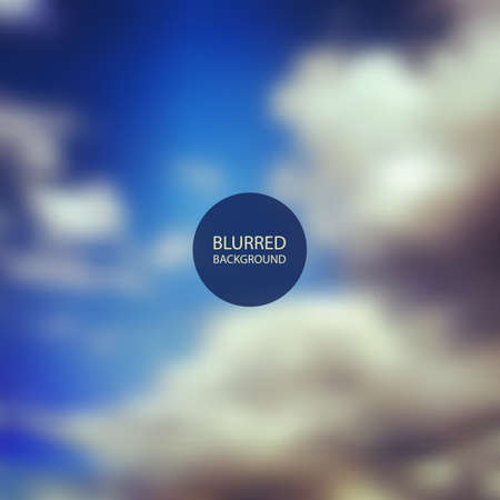 Abstract Background - Blurred Image - Clouds Vector