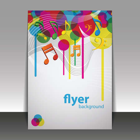 music score: Party Time, Music - Flyer or Cover Design Template