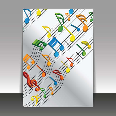 musical score: Party Time, Music - Flyer or Cover Design Template