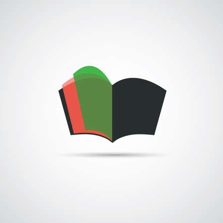 narrative: Book or Notebook Icon Design Illustration