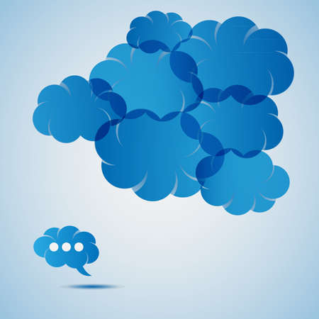 moody sky: Blue Cloud Speech Bubble Concetto