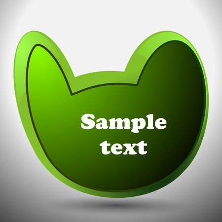 Abstract Green Speech Bubble Vector