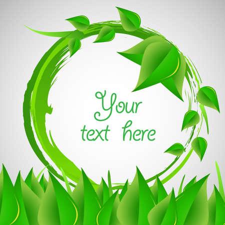 awarding: Green Eco Label Or Speech Bubble