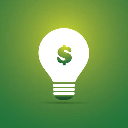 Green Eco Energy Concept Icon - Save Money with Green Energy Illustration